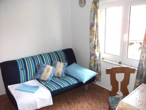 novalja-apartment-schlafsofa