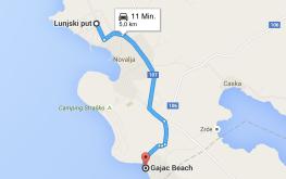weg-novalja-strand-gajac